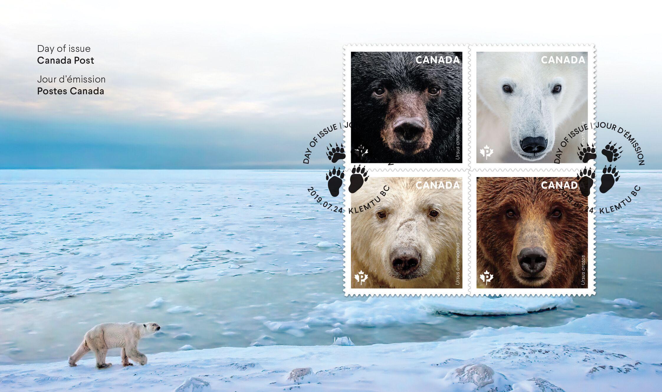 Bärige Briefmarken für Deine Postkarte aus Kanada