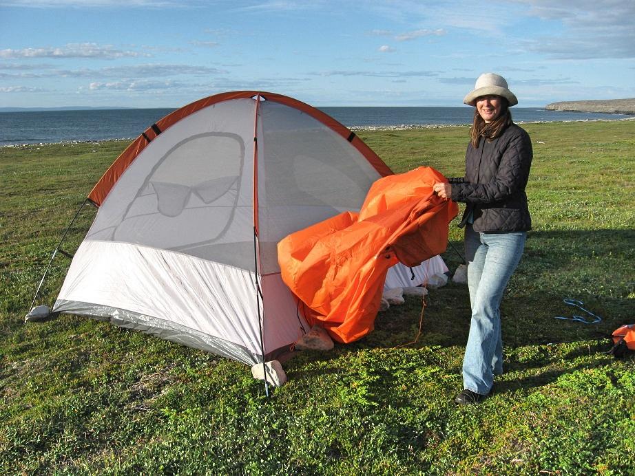 Beim Zelten am Nordatlantik, Bernadette A. Calonego