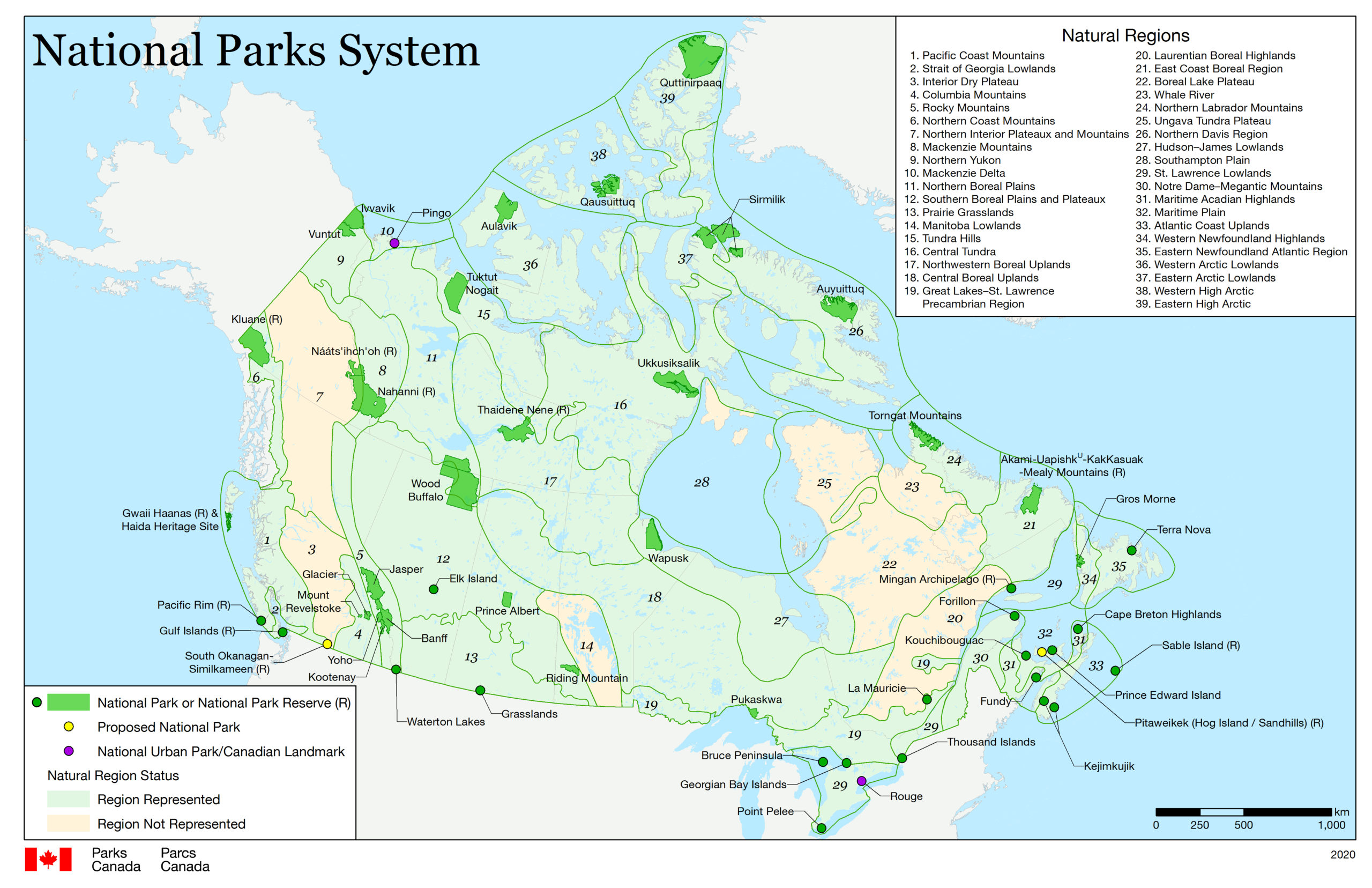National Parks in Kanada
